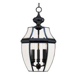 Maxim Lighting - Maxim Lighting 6095CLBK South Park Black Outdoor Hanging Lantern - 3 Bulbs, Bulb Type: 40 Watt Incandescent