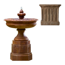 Campania International - Fontainbleu Fountain - Aged Limestone (AL) - 657 lbs. Shipping is available throughout the continental United States. As these fountains are made to order,_please allow 4 to 6 weeks for delivery. Drop ship is curbside delivery only.