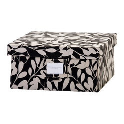 Re-Gift Collection Leaf Box, Black, Medium