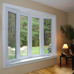 Bow Windows - This spacious bow window features operable casment vents on the end.
