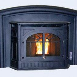Enviro 31'' x 23'' Empress Series Insert Pellet Fireplace - Traditional cast iron design