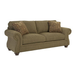 Broyhill - Affinity Finish Oxford Sofa - 5079-3 - Available in a variety of fabric colors to fit any home decor