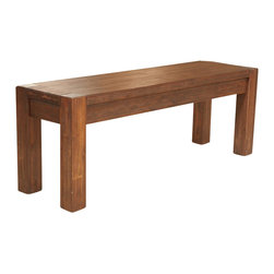 Modus Furniture - Modus Furniture Meadow Solid Wood Bench in Brick Brown - Modus Furniture - Kitchen Benches - 3F4191
