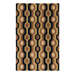 Forum FM-7087 Rug - 8'x10'Kidney - Inspired by casual lifestyles, this area rug is Hand tufted of 100% New Zealand wool, giving these rugs the quality to look great for years to come. Make your home feel like you are on vacation 365 days a year.