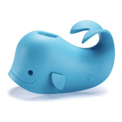 Inova Team -Contemporary Blue Spout Cover - Moby is a spout cover that brightens up the bath while protecting baby's head from bumps in the tub.