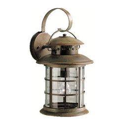 "Kichler - Kichler 9761RST Rustic Collection 1 Light 18"" Outdoor Wall Light - Kichler 9761 Rustic Outdoor Lantern"