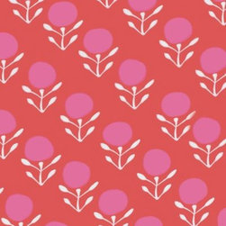 Serena & Lily - Blossom Wallpaper Strawberry - Bold colors meet a soft botanical for a look that's both fresh and familiar. To ensure each palette printed perfectly, we worked closely with one of the country's most historic wallcovering manufacturers. Juice pink and white on a strawberry ground.