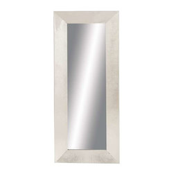 Benzara - Contemporary Design Metal Wall Mirror with Nickel Finish - Contemporary Design Metal Wall Mirror with Nickel Finish. Stylish and contemporary in design, this metal wall mirror is the embodiment of chic. The mirror has dimensions of 24 x 3 x 59. Some assembly may be required.