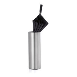 Blomus - Casa Solid Umbrella Stand - As an umbrella concept, all stands are alike. And while they may all be related to one degree or another, this umbrella stand is so simple and elegant, you'll feel like your umbrellas have just moved uptown.