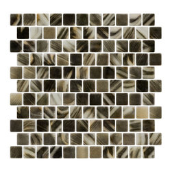 Susan Jablon Mosaics - Charcoal And Cream Brushstroke Recycled Glass Tile - Charcoal, opal and cream brushstrokes in 100% recycled glass tile. Perfect for interior or exterior installation. Eco-friendly never looked so good! Certified by the U.S. Green Building Council for L.E.E.D. Projects, the beauty of these recycled glass tiles prove you don't need to sacrifice to be sustainable. They are suitable for a wide range of uses, indoors and outdoors, in dry or wet locations. A custom mosaic design using these tiles can make a gorgeous, responsible, design statement in your pool, kitchen bathroom, dining room – anywhere! It is very easy to install as it comes by the square foot on mesh and it is very easy to clean! About a decade ago, Susan Jablon re-ignited her life-long passion for mosaics and has built a customer-focused, artist-driven, business offering you the very best in glass and decorative tiles and mosaics. We are a glass tile store committed to excellence both personally and professionally. With lines of 100% SCS Qualified recycled tile, 12 colors and 6 shapes of mirror, semi precious turquoise stones from Arizona mines, to color changing dichroic glass. Stainless steel tiles in 8mm and 4mm and 12 designs within each, and anything you can dream of. Please note that the images shown are actual photographs of the tiles however, colors may vary due to the calibration of each individual monitor. Ordering samples of the tiles to verify color is strongly recommended.