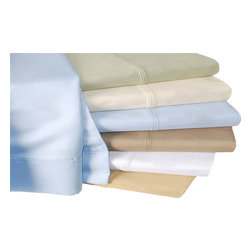 Bed Linens - Cotton 440 Thread Count Solid Sheet Set Full Gold - 440 Thread Count Solid Sheet Sets
