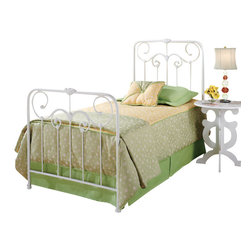 Hillsdale Furniture - Hillsdale Lindsey Panel Bed - Queen - A lightly scaled, Victorian styled bed that marries interesting scroll work with vivid castings. Perfect for the little girls first bed.
