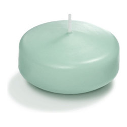 """Neo-Image Candlelight Ltd - Set of 18 - Yummi3"""" Floating Candles - 44 Colors, Tiffany Blue, 3"""" - Our unscented 3"""" Floating Candles are ideal when creating a beautiful candlelight arrangement for the home or wedding decor.  Available in 44 trendy candle colors hand over dipped with white core to match and compliment your home decor or wedding centerpiece decoration."""