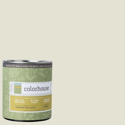 Inspired Semi-Gloss Interior Paint, Bisque .03, Quart - Colorhouse paints are zero VOC, low-odor, Green Wise Gold certified and have superior coverage and durability. Our artist-crafted colors are designed to be easy backdrops for living. Colorhouse paints are 100% acrylic with no VOCs (volatile organic compounds), no toxic fumes/HAPs-free, no reproductive toxins, and no chemical solvents.