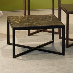 Knoll | Krusin Square End Table with Marble Table Top -