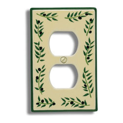 Atlas Homewares - Ceramic Firenze Olive Outlet Plate (ATH3160OOP) - Ceramic Firenze Olive Outlet Plate