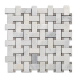 """GlassTileStore - Twine Asian Statuary Honed Marble Tile - Twine Asian Statuary Honed Marble Tile             This marble mosaic will provide endless design possibilities from contemporary to classic. It creates a great focal point to suit a variety of settings. he mesh backing not only simplifies installation, it also allows the tiles to be separated which adds to their design flexibility. Natural stones are products of nature, therefore, variations in color, pattern, texture, and veining will occur.         Chip Size: 1x2 Dot: 1/4""""x1/4""""   Color: Asian Stataury    Material: Marble   Finish: Honed    Sold by the Sheet - each sheet measures 11 3/4"""" x 11 3/4"""" (.96 sq. ft.)   Thickness: 10mm   Please note each lot will vary from the next.            - Glass Tile -"""