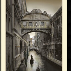 Amanti Art - William Vanscoy 'Don't Look Back' Framed Art Print 31 x 43-inch - For your next home decorating project, try incorporating a little Venetian charm into your decor. Romantic and nostalgic, this cityscape features one of Venice's famed canals.