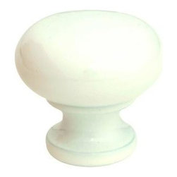 Q.M.I. - Round Knob in White (Set of 10) - Includes mounting screws. Decorative. Easy to install. Limited lifetime warranty. Made from zinc. 1.25 in. Dia. x 1 in. HAdd the finishing touches to your new vanity or cabinets or instantly update the look of your room with this hardware. Our cabinet knobs beautifully compliment any homes decor.