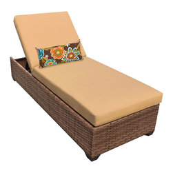 TKC - Tuscan Chaise Outdoor Wicker Patio Furniture 2 for 1 Cover Set, Yellow - Features:
