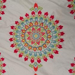 Kravet - Kravet Embroidered Medallion Fabric - 3 Yards - Yardage: 3 yards