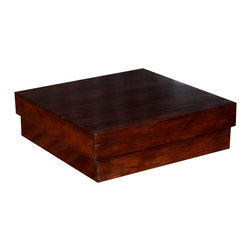 "Sierra Living Concepts - Contemporary 33"" Square Indian Rosewood Low Platform Coffee Table - Create your own style and write your own rules with our solid hardwood Platform Coffee Table. This dynamic square table measures 33"" by 33"" but stands only 10"" off the ground."