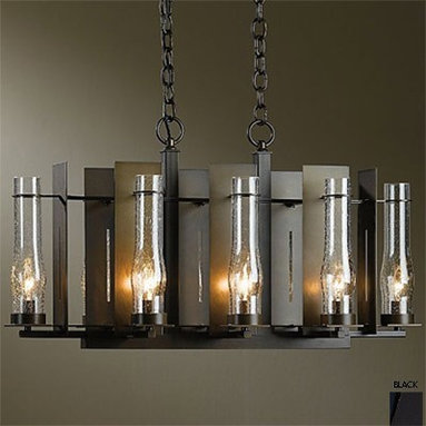 New Town 8 LG Chandelier - There's something a bit traditional and a little Gothic about this contemporary chandelier, making it a versatile piece that can work with many styles.