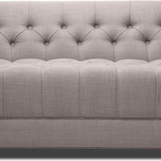 Modern Living Room Chairs Grand Grey Deluxe Love Seat