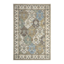 """Nourison - Nourison Modesto MDS04 3'11""""x5'3"""" Beige Area Rug 18396 - Enhance any interior with this classic Persian design area rug. With shades of dusty pink, periwinkle, beige and coffee, this Persian area rug takes its inspiration from rare antique designs and evokes a sense of a storied past while making use of modern day colors. Made to last, the timeless design of this rug will transform any room with its elegant variety of patterns and colors."""