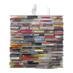 Paperback - Literally flip books on end with this folio style bookcase. Modular, of course, and perfect.