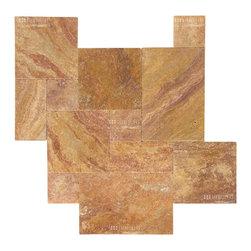 Travertine Paver - Peach Blend Paver - STONETILEUS - Order free sample