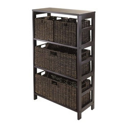 Winsome Wood - Granville Storage Shelf, Espresso, Set of 5 - Our Granville Storage Shelf is perfect to store and organize your goodies. This set comes with open shelf that is made from combination of solid and composite wood.