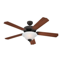 "Sea Gull Lighting - Sea Gull Lighting 52"" Quality Max Plus Transitional Ceiling Fan X-418-ELB03051 - 4"" length x 0.5"" dia. downrod included."
