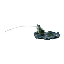Floating Frog Spitter Solar Pond Fountain