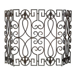 Joshua Marshal - Decorative Wrought Iron Fire Screen - Decorative Wrought Iron Fire Screen