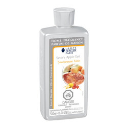 Lampe Berger - Savory Apple Tart, Clear, 500ml - A sheer delight calling to mind the sweet and fruity perfume of apple tart is still warm. An olfactory concoction that is unique and delicious, a fragrance with the taste of childhood