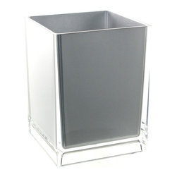 Gedy - Free Standing Waste Basket With No Cover, Silver - If your bathroom is in need of a waste basket, why not consider this high-end bathroom waste basket from the Gedy Rainbow collection? Perfect for more contemporary & modern settings, this high quality waste bin is free standing and finished with white, green, blue, red, black, orange, silver, fuschia, or lilac.