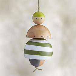 Child Ornament - Our friendly family members are crafted in simple shapes of pinewood, strung together on a cord and finished with colorful painted details. Coordinating mom, dad and child ornaments let you gather an entire family to decorate your holiday tree. Studiopatró founding artist Christina Weber strives for memorable simplicity in everything she creates. Her sources of inspiration—architecture, nature and pattern—can be seen in her ornament designs, crafted of pale wood with bright strokes of color.