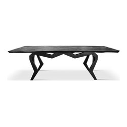 Doro Designs - Showroom - Dining table with black powder coated, spider like iron base