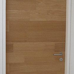 """Modern Doors - Custom White Oak """"Sketch-Face Veneer"""" Flush Door - Door Design and Photo by Nastasi Architects, Hoboken, NJ"""