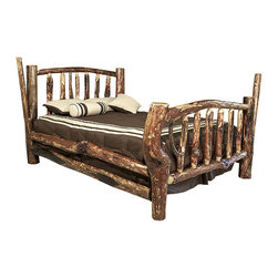Montana Woodworks - Montana Woodworks Character Bed in Glacier Country - California King - This bed truly has character! The artisans at Montana Woodworks select each log used to make this bed for its unique and unusual appearance. The result: an incredible, one-of-a-kind log bed that you will display with pride. All Montana Woodworks furniture is designed and crafted to last a lifetime, ensuring you an heirloom quality item that can be handed down from generation to generation. All Montana Woodworks character beds are stained and lacquered. Each bed is professionally prepped and then sprayed with stain and three coats of premium grade, clear lacquer. Some assembly required. All Montana Woodworks products come with a 20-year limited warranty at no additional charge!
