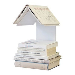 ecofirstart - Readers Nest Book Shelf - Rethink the rectangular bookshelf with this innovative, refreshingly designed book nest. Cradle your favorite books in this birdhouse-inspired shelf, crafted of sturdy, sleek recycled aluminum.