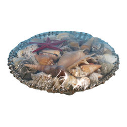 """Handcrafted Model Ships - Decorative Basket of Large Seashells 10"""" - Nautical Decor - These Decorative Basket of Large Seashells 10"""" compliment any bathroom, kitchen, or bedroom looking to add a bit more of a beach feel to the room."""