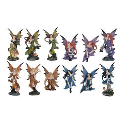 GSC - Display Set of 12 Fairy Pixie Figurine Statue Collectible Decoration - This gorgeous Display Set of 12 Fairy Pixie Figurine Statue Collectible Decoration has the finest details and highest quality you will find anywhere! Display Set of 12 Fairy Pixie Figurine Statue Collectible Decoration is truly remarkable.