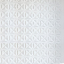 Inhabit - Inhabit Facet Wall Flats Set of 12 - Wall Flats™ from Inhabit® are lightweight dimensional wall tiles that work together through an automatic pattern repeat to create large-scale dimensional walls of any size and shape. Wall Flats work in multiples to create a continuous, uninterrupted sculptural wall. The wall panels are molded from bagasse, one of the world's most renewable resources, they are a durable, biodegradable and environmentally friendly product. They can be installed, trimmed and painted with commonly available products and tools. Scraps are biodegradable and can be recycled with other paper products or composted. Wall Flats nest inside each other to create low volume cartons and easily ship with common small parcel carriers. Wall Flats are sold by the box and contains 10 tiles that cover 32 sq ft.