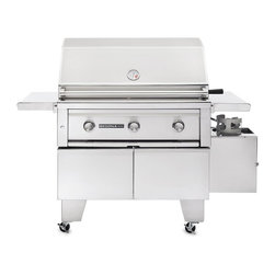 Lynx - Sedona BBQ 36 in. ADA Gas Grill Multicolor - L600ADA-LP - Shop for Grills from Hayneedle.com! A squat fully-functional free-standing grill the Sedona BBQ 36 in. ADA Gas Grill is crafted from 304 stainless steel in accordance with ADA standards. Its 32-inch high grilling surface features two burners a ProSear infrared burner and a stainless steel coil. Both burners are layered with ceramic briquettes to guarantee even heat distribution. The hood features a built-in thermometer that allows you to fine-tune the temperature while halogen lights provide visibility even in low-light situations. A spark-ignition button makes lighting the grill a snap. The grill is designed with a double-door base with a interior shelf and features four casters for mobility. The foldable side-shelves let you keep food and tools nearby. Choose between a liquid propane model or a natural gas model (subject to availability). About Lynx Professional GrillsWhen it began in 1996 Lynx Professional Grills was committed to offering grills that elevated the outdoor cooking experience to new levels. Since then the company has expanded its offerings to a full range of outdoor living products including side burners cocktail stations refrigerators and more. Since its founding Lynx has set an industry standard for innovation engineering and design. Consumers prize the easy-to-clean specially welded stainless steel which endures under the harshest of outdoor conditions and delivers restaurant-quality design right to your home patio.