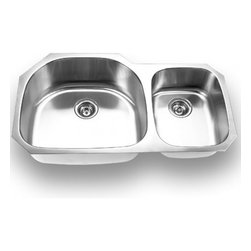 YOSEMITE HOME DECOR - Yosemite Home Decor MAG3720 18-Gauge Stainless Steel Undermount Double Bowl Kitc - These high quality Yosemite sinks are a heavy gauge, type 304 (18/8), surgical grade, stainless steel for maximum durability - 18-Percent chromium (for shine) and 8-Percent nickel (for rust resistance). Stainless steel is an extremely durable surface; it can, however, be scratched or scuffed. When scuffing does occur, please remember that this is normal and the effect will become uniform with age. The high quality stainless steel does not lose its attractive shine.