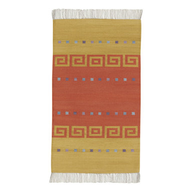 Woven Spirits Del Valle rug in Key - A celebration of the ancient textile weaving traditions of the American West. Designed by Rachel Brown, a renowned New Mexico textile designer. Hand woven of 50% mohair and 50% long staple wool on horizontal looms by Zapotec weavers. Based on traditional southwestern themes.
