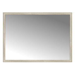"Posters 2 Prints, LLC - 64"" x 46"" Libretto Antique Silver Custom Framed Mirror - 64"" x 46"" Custom Framed Mirror made by Posters 2 Prints. Standard glass with unrivaled selection of crafted mirror frames.  Protected with category II safety backing to keep glass fragments together should the mirror be accidentally broken.  Safe arrival guaranteed.  Made in the United States of America"