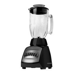 Applica - Black and Decker Cyclone Blender - 48 oz. capacity glass jar. 12 speed controls. Ice crush function. High performance four plane stainless steel blades. Perfect pour spout. Voltage: 650 watts. Warranty: One year. Black colorIce fruit coffee beans beware! Theres a cyclone on the way, and its going to pulverize, chop, blend and mix anything that gets in its path. With the cyclone blender, all the conditions are right.